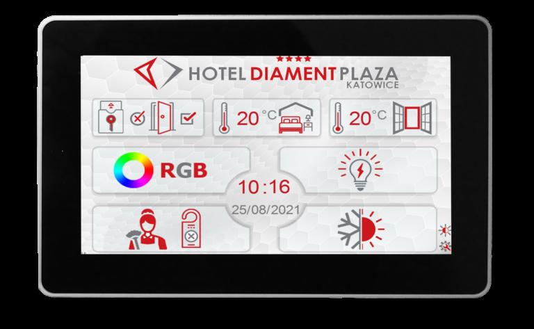 """EKRAN touch 7 DIAMENT 768x473 - ELP-HMI-Touch 7"""" - Dotykowy zadajnik z wbudowanym czujnikiem temperatury Biały"""