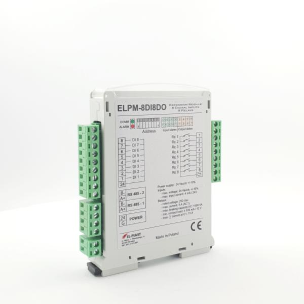 ELPM 8DI8DO – Modul 8 wej. 8 wyj. przekaznikowych - Dokumentacja techniczna / Wideo Tutoriale