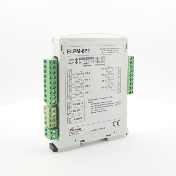 ELPM 8PT – Modul 8 PT – wejsc temperaturowych - Dokumentacja techniczna / Wideo Tutoriale