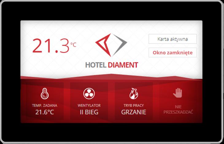 """diament touch pcifi7fzqm2ap1b5cwr8vvjoe52ouvbnu0uqbk3568 - ELP-HMI-Touch 7"""" - Dotykowy zadajnik z wbudowanym czujnikiem temperatury Biały"""
